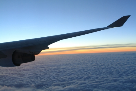Airplane Wing In Flight  photo