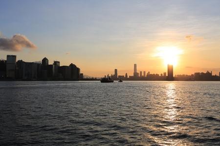 sunset of city Stock Photo - 13626559