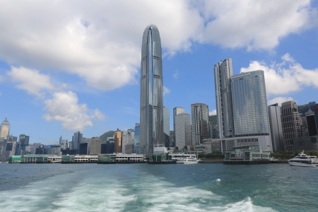 香港海岸線 版權商用圖片 - 14834057