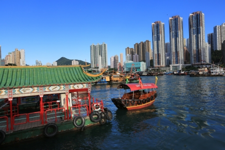 Boat, Hong Kong, China  版權商用圖片 - 16102504