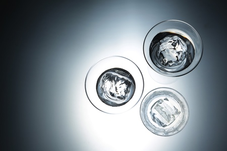 Three Glasses With Cold Water Closeup On White Background  Stock Photo - 14906518