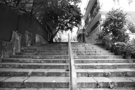 black and white walkway Stock Photo - 20272559