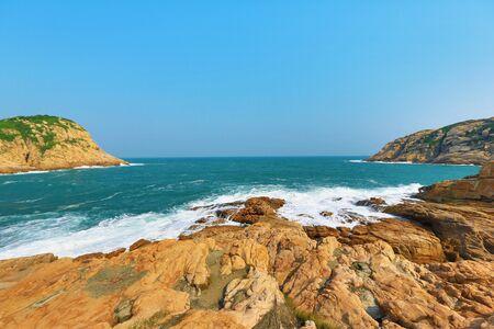incidental people: hong kong  Coastline Stock Photo