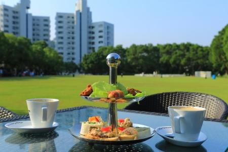 stand teapot: Pastries And Tea Set