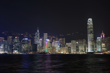 Panoramic Scene Of Hongkong Harbour   Stock Photo - 16102513