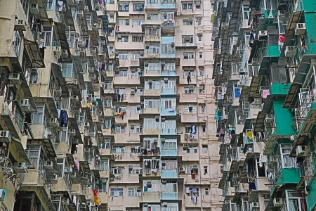 housing problems: Old Apartments In Hong Kong  Editorial