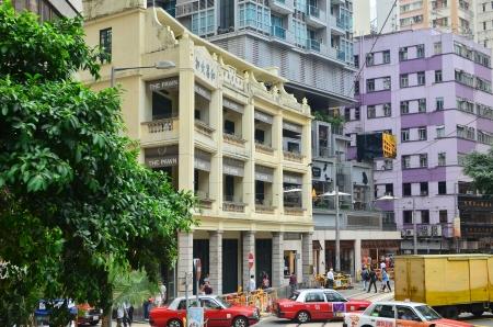 tram view of wan chai, hong kogn
