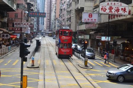 tram view of sai wan, hong kong