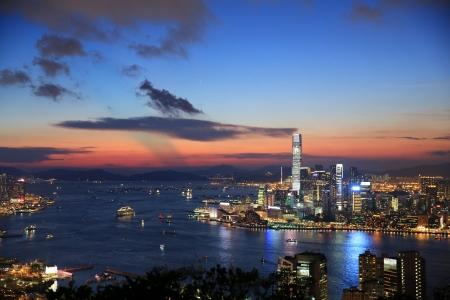 Kowloon Nacht an der Spitze Standard-Bild - 20453553