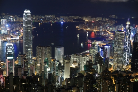 Hong Kong Night at the peak
