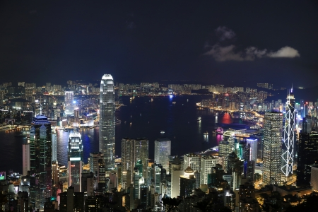 Hong Kong Night at the peak photo