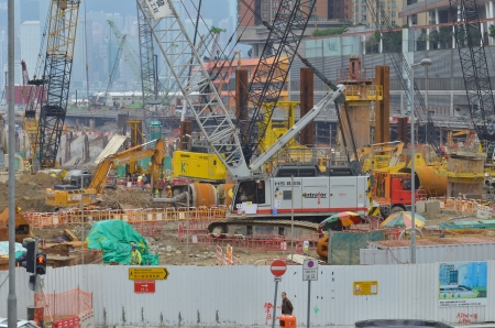 buildup: west Kowloon buiding site