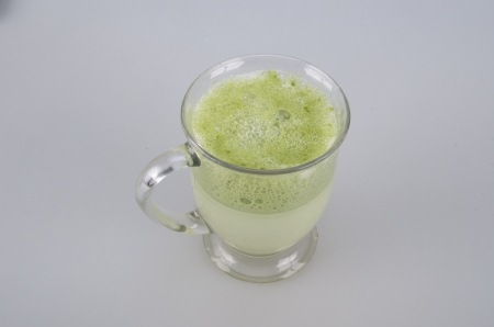 Green tea milk photo