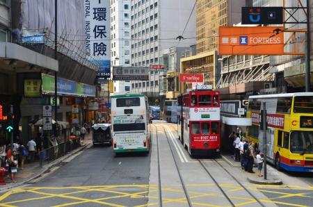 tram view of sheung wan Editorial