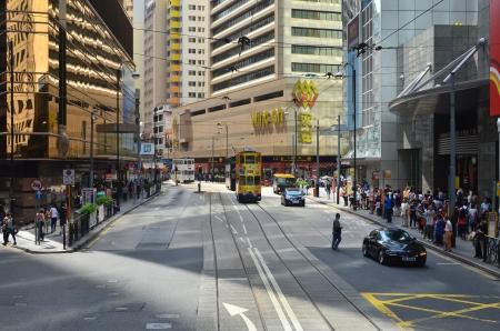 wan: tram view of sheung wan Editorial