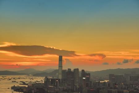 Hong Kong Night at the peak Braemar Hill Stock Photo - 20061797