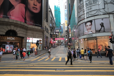 Straße im zentral Standard-Bild - 20289011