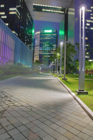 central government: Hong Kong Central Government Complex walkway