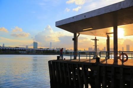 kwun tong pier , hong kong 版權商用圖片
