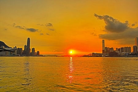 Victoria Harbour sunset at Gateway photo