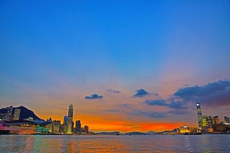 Victoria Harbour Gateway Stock Photo - 21159715