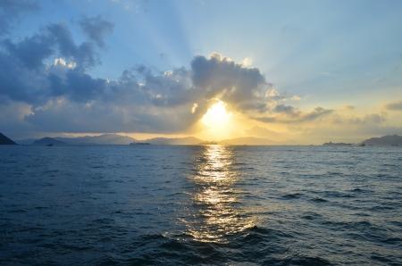 victoria harbor: Victoria Harbor sunset