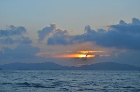 sun drenched: sunset of Coastline