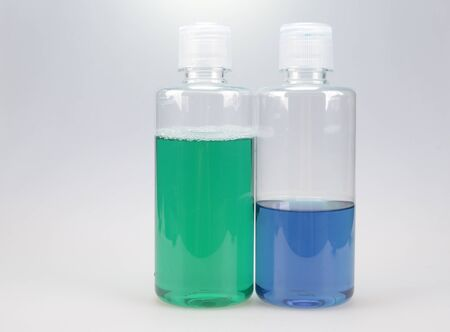 nonalcoholic: color water of bottle