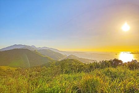 lantau: Isola di Lantau, tramonto