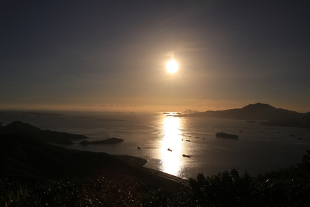 Sunset of lantua island photo