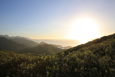 Lantau island, sunset photo