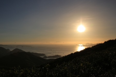 Sunset of Tai Tung Shan photo
