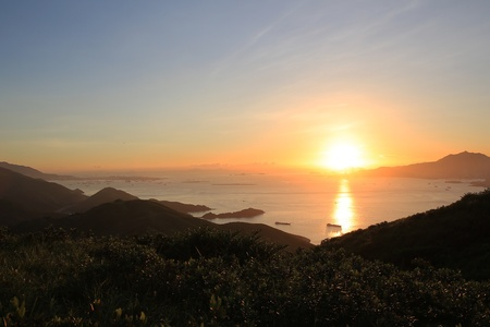 Sunset of lantau island photo