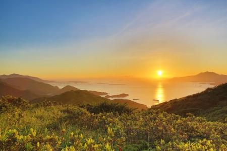 lantau: Sunset of lantua island