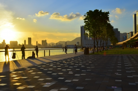 Kwun tong  promenade Stock Photo