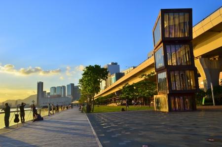 Kwun tong  promenade 스톡 콘텐츠