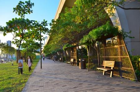 Kwun tong  promenade Stock Photo
