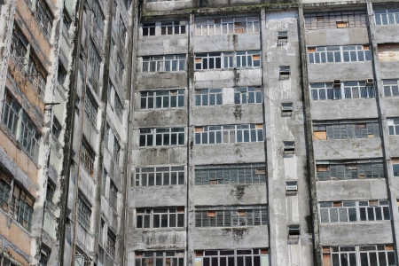 Old apartments in Hong Kong photo
