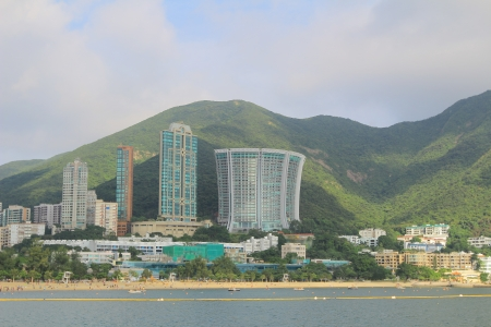 repulse: Buildings on the beach, Repulse bay, Hongkong