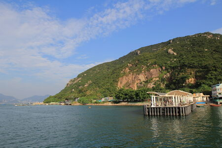 Sea view in Hong Kong from hill top of Lamma Island photo
