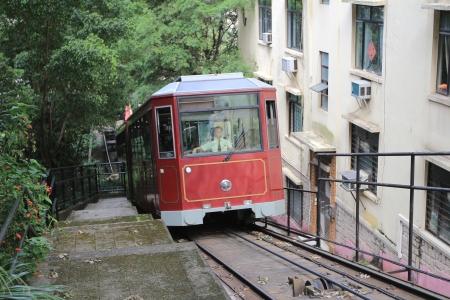 在香港纜車