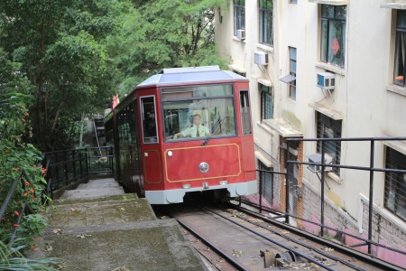 peak tram in Hong Kong 新聞圖片
