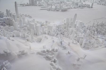 city model of hong kong photo