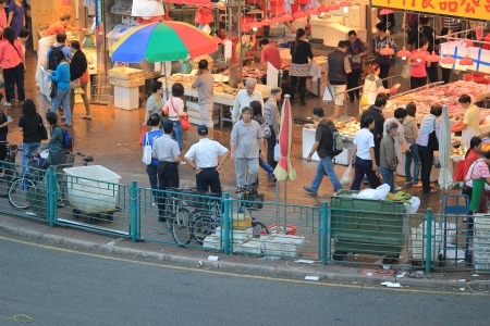 Market at hong kong