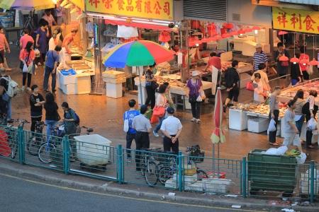 Market at hong kong Stock Photo - 24276350