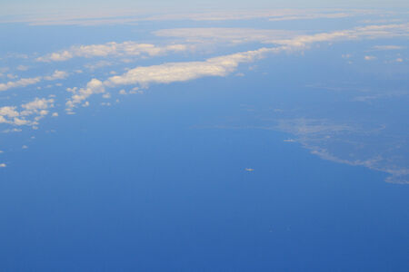 landscape view from plane photo