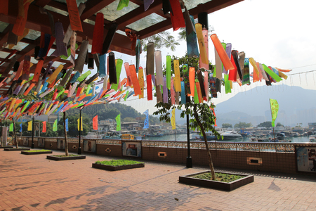 elevated walkway: Lei Yue Mun, Yau Tong, Hong Kong