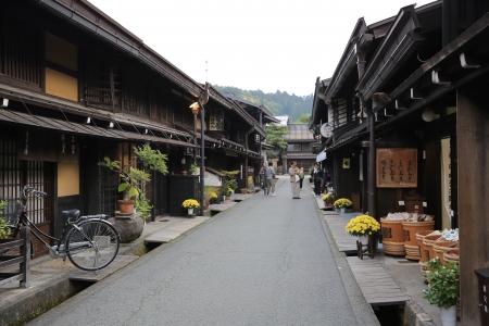 Beautiful and Traditional Street  Takayama, Japan 新聞圖片