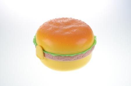 lunch box:  Plastic lunch box Hamburger