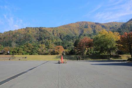 shirakawa go: shirakawa-go car park Editorial
